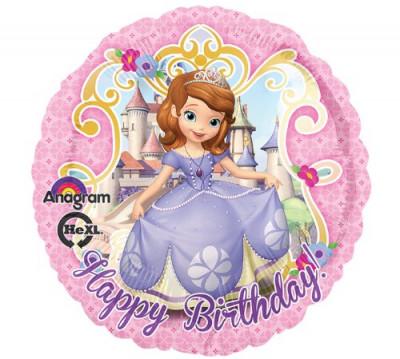Balão Feliz Aniversário Princesa Sofia (43cm)