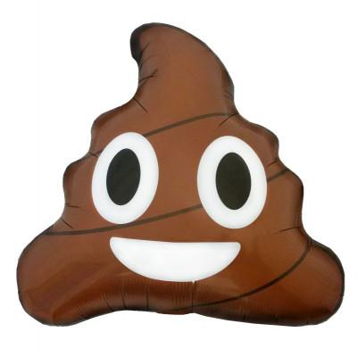Balão Foil Emoji Poop 51cm