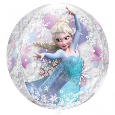 Balão Frozen Orbz Foil Transparente