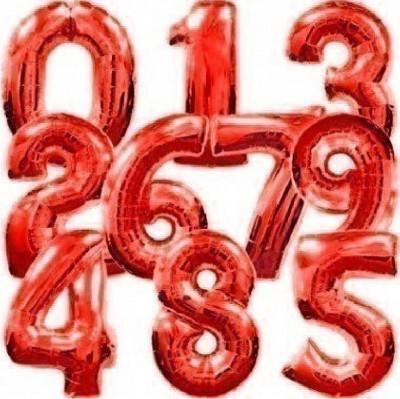 Balão Número Vermelho 86cm