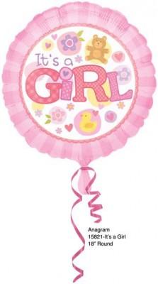 Balão Redondo É uma Menina