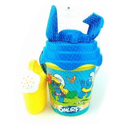 Balde para praia com acessórios Smurfs- sortido