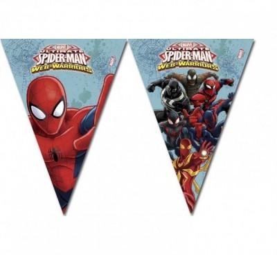 Bandeirolas Festa Spiderman Web Warriors