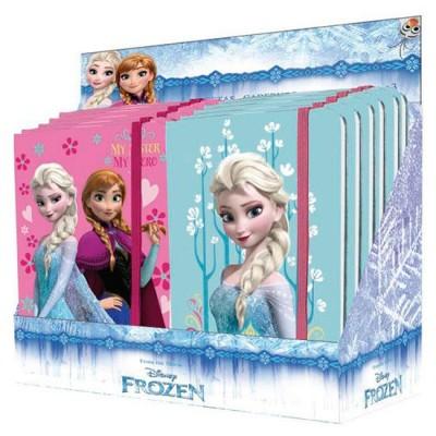Bloco c/ elástico Frozen - Sortido
