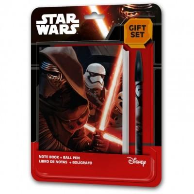 Bloco + Esferografica Star Wars