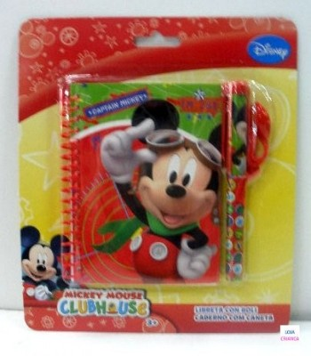 Bloco espiral c/ caneta Mickey & Friends