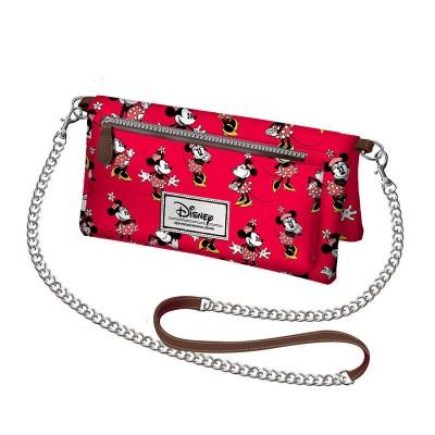 Bolsa rectangular com corrente Minnie Disney Cheerful