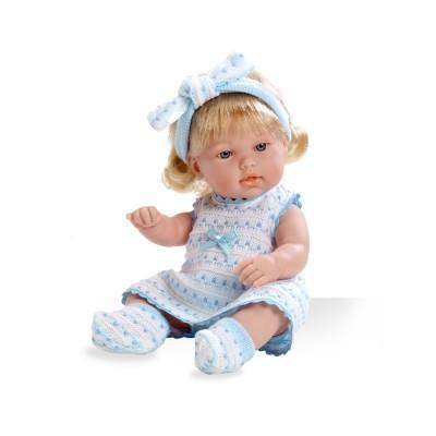 Boneca Elegance Lacinhos Azul 33 cm