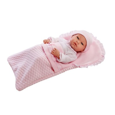 Boneca Elegance Real Baby Rosa 42 cm