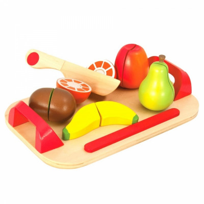 Brinca cortar frutas madeira
