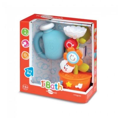Brinquedo Flor musical para o banho do bebé