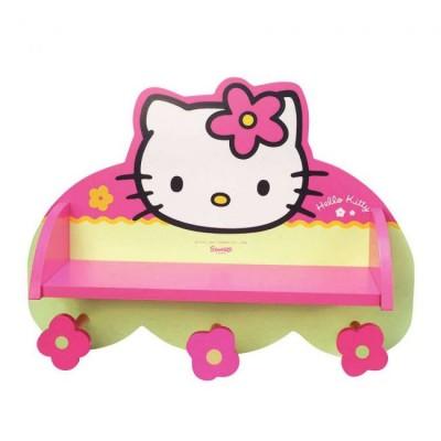 Cabide Parede Prateleira Hello kitty