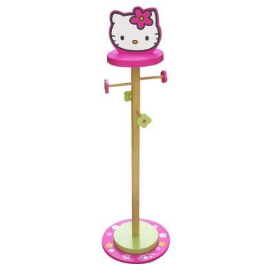 Cabide Pé Madeira bengaleiro Hello Kitty