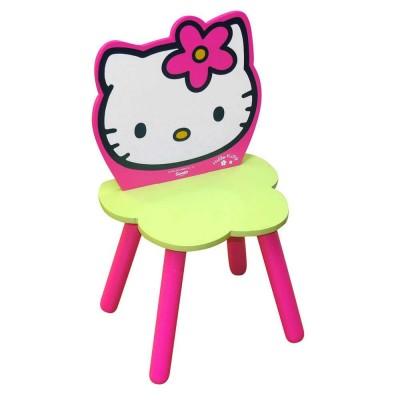 Cadeira Flor Madeira Hello Kitty