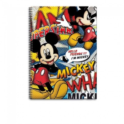 Caderno A4 Hello Friends Mickey Pack 5