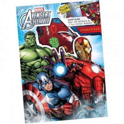 Caderno pintar + autocolantes Avengers