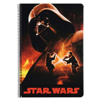 Caderno quadriculado Star Wars Darth Vader A4 80 folhas