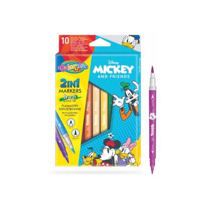 Caixa 10 Marcadores Duplos Mickey Colorino