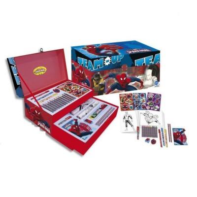 Caixa com acessorios fantasia Marvel Spiderman
