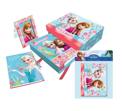 Caixa Oferta Frozen c/ Moldura + Diário + Álbum fotos
