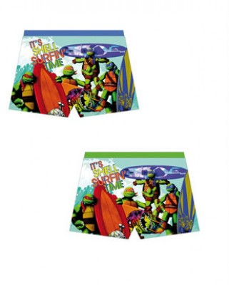 Calção Praia Boxer Tartarugas Ninjas 6 Und.