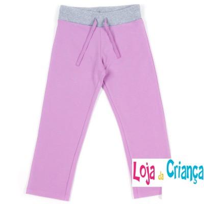 Calças Fato Treino cinza/rosa