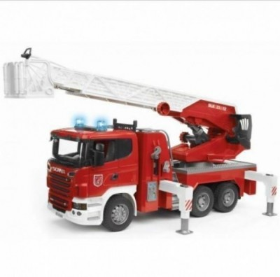 Camião bombeiros Scania R-Series luz e som Bruder