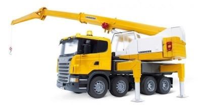 Camião Scania e grua Liebherr c/luz e som Bruder Profissional