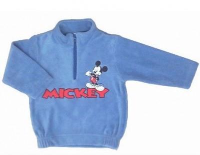 Camisola polar Disney mickey azul bordado
