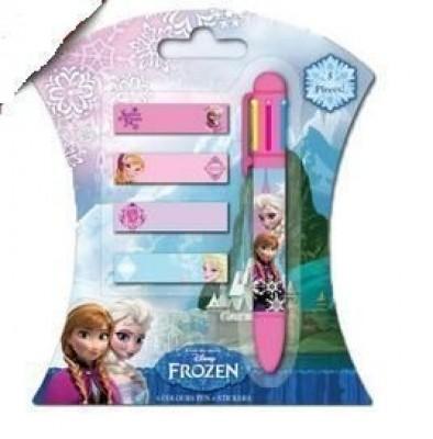 Caneta Multicor c/ etiquetas Frozen