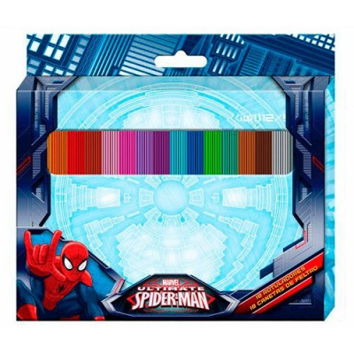 Canetas feltro 18 cores Ultimate Spiderman Marvel