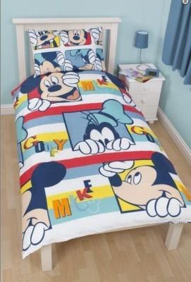 Capa de Edredon e Almofada Mickey e Pateta