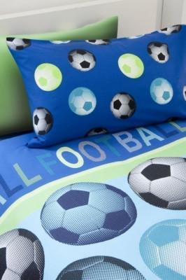 Capa de Edredon e Fronha Futebol Azul Solteiro