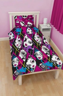 Capa de Edredon Reversivel Monster High Skullette