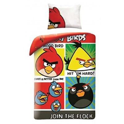 Capa Edredon + Fronha  Angry Birds 140cm