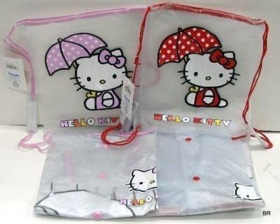 Capa para Chuva impermeavel Hello Kitty Transparente com bolsa