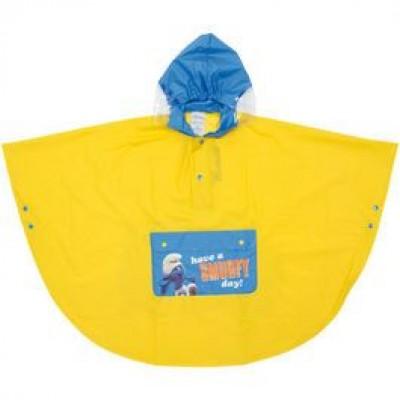 Capa Poncho Impermeavel Smurfs