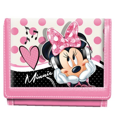 Carteira velcro Disney Minnie Love Music