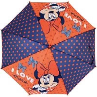 Chapéu chuva azul/laranja Disney I love Minnie