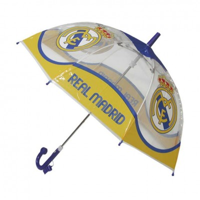 Chapéu chuva bolha transparente Real Madrid