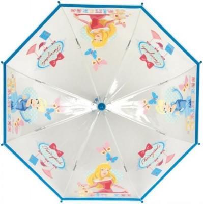 Chapeu Chuva Manual Transparente Princesas Disney Azul