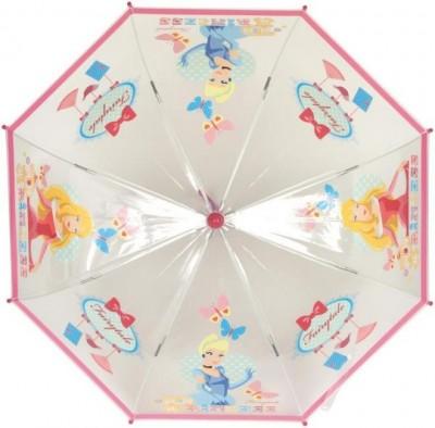 Chapeu Chuva Manual Transparente Princesas Disney Rosa