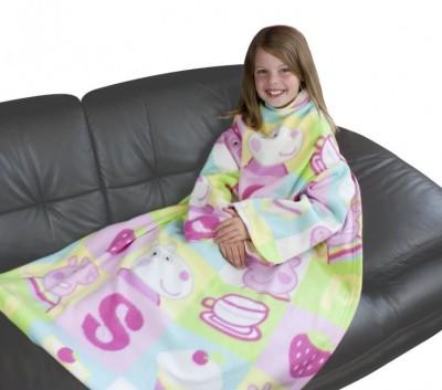 Cobertor com mangas Porquinha Peppa