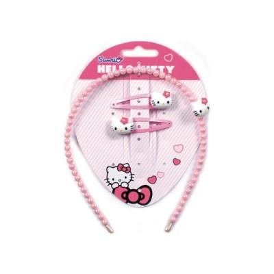 Conj. Bandolete + 2 Ganchos Hello Kitty