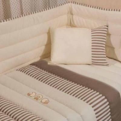 Conj. cama bebé edredon Pitty varias cores