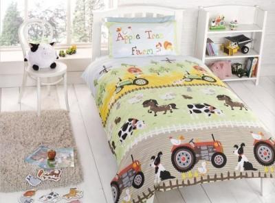 Conj.Capa de Edredon almofada cortinados quinta cama grades