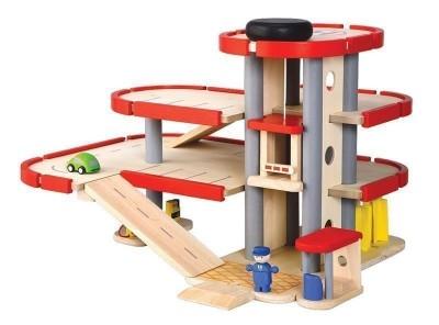 Conj.Garagem 3 Pisos Madeira Plan Toys