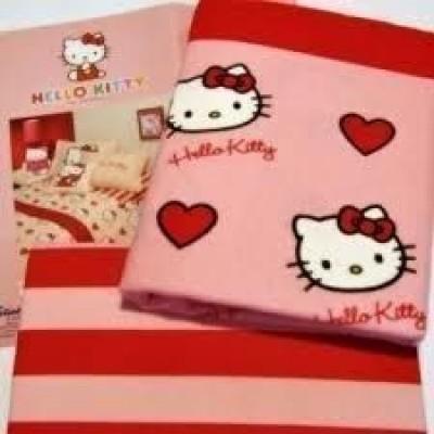Conj.Jogo Cama Flanela Hello Kitty