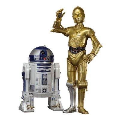 Conjunto 2 Figuras C-3PO + R2-D2 Star Wars