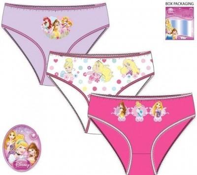 Conjunto 3 Cuecas Princesas Disney